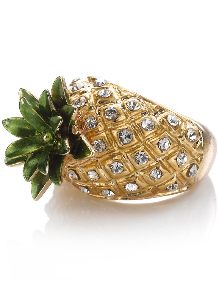 Funky Pineapple Sparkle Ring by Accessorize