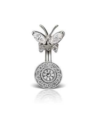Diamond Butterfly and Ice Pave Barbell Image #1
