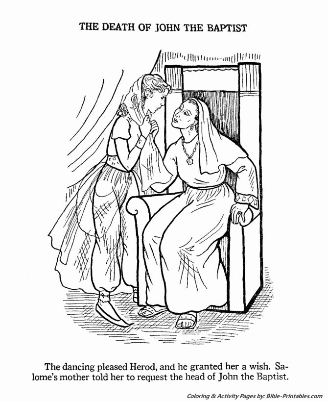 John The Baptist Coloring Page Luxury John The Baptist Coloring Pages John The Baptist In 2020 Bible Coloring Pages Coloring Pages John The Baptist