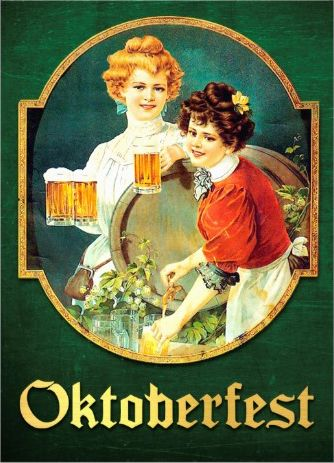 Vintage serene #oktoberfest_invitations. Two lovely ladies. Customize with your information on the back.