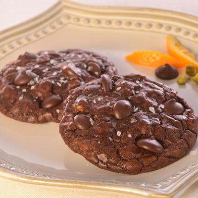 ... Cookies with Pistachios, Orange Sea Salt (Easy; 12 cookies) #