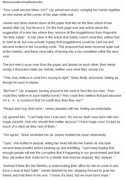 The Marauders and Lily part 1