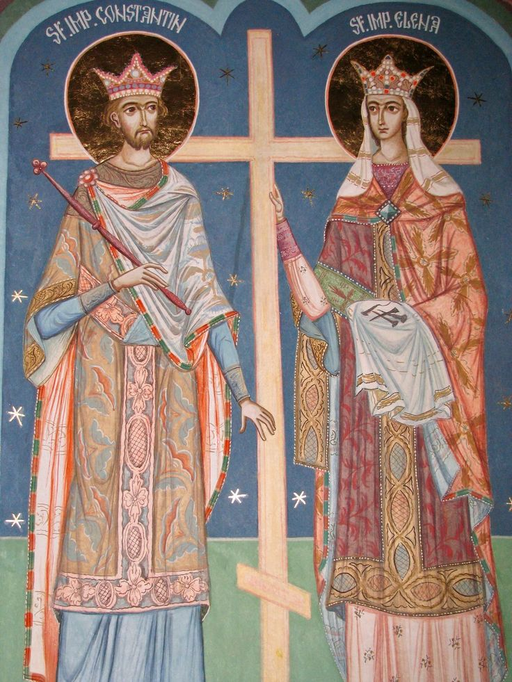 St. Constantine & St. Helen by Pictor Viorel Ion of Romania