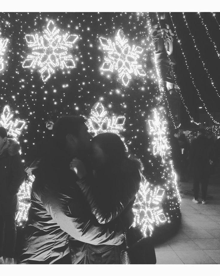 Christmas photo for couple