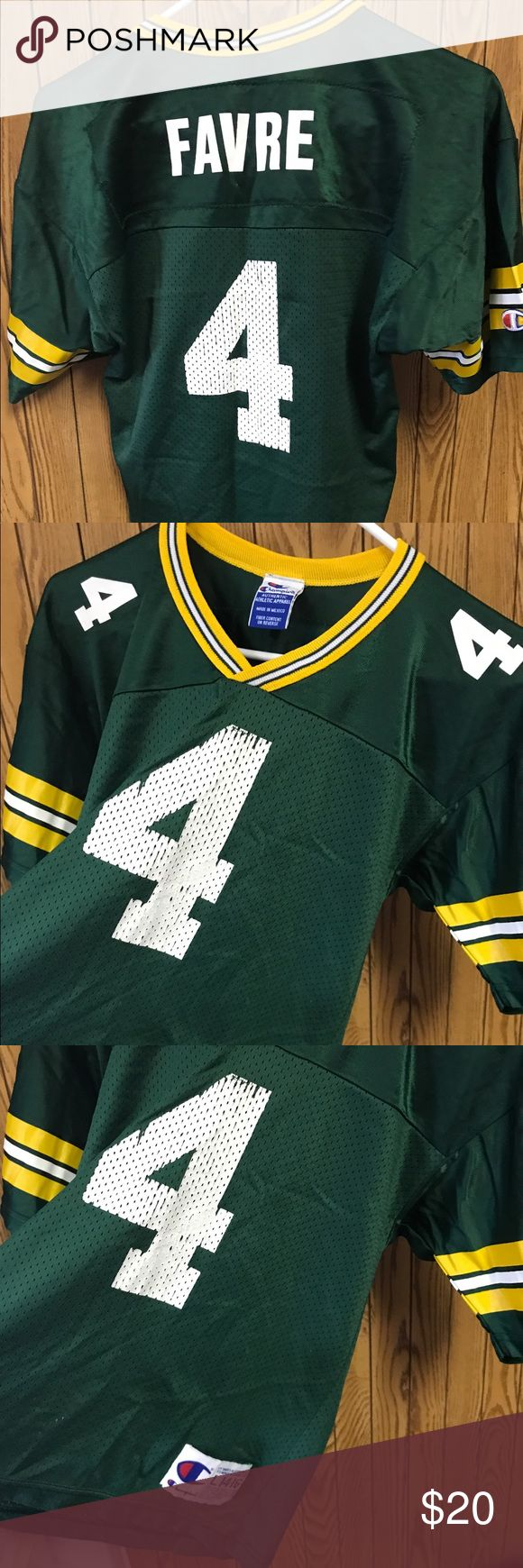 Youth Large Green Bay packers Jersey This is in well lived condition. Broken in and comfy! Ships fast!! Champion Shirts & Tops