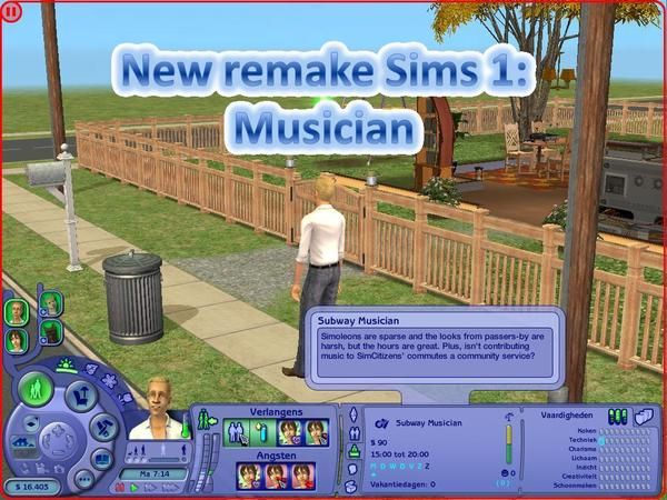 Career from Sims 1: Musician by lientebollemeis http://www.thesimsresource.com/downloads/1165063