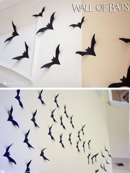 DIY Bat decorations for your wall  Read more at: http://pinklover.snydle.com/diy-hotel-transylvania-birthday-ideas.html | I love Pink
