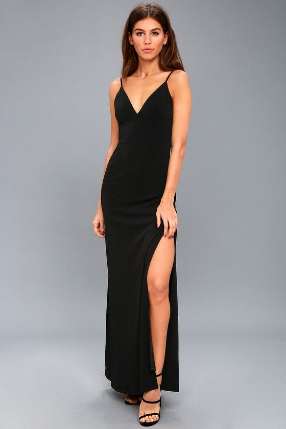 9e4aec4035f0b Limousine Queen Black Maxi Dress in 2019 | Lulus Clothing Brand ...