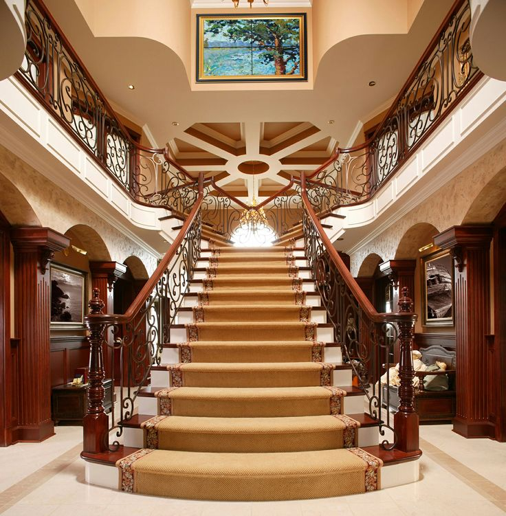 53 best new house foyers images on pinterest mud rooms for Luxury staircases