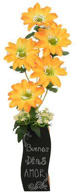 Arreglo de flores / Florero con pintura para pizarron