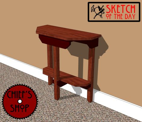 Sketch of the Day: Narrow Hall Table