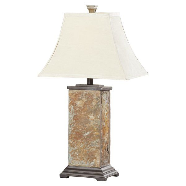 Add Glamour To Your Home With This Alcott Hill Gallipolis 25 H Table Lamp With Bell Shade It Is Made Of Slat Lamp Table Lamps Living Room Stylish Table Lamps