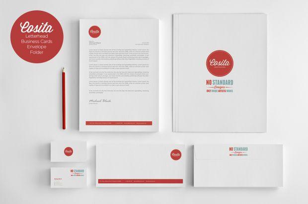Cosita 620x412 Cosita Corporate Identity   Business Card, Envelope, Letter Head & Presentation Folder Template | Free Download