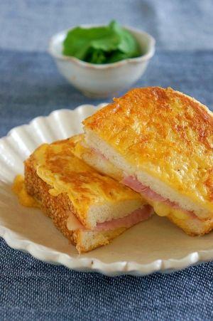 マヨで簡単♪ハム&チーズのフレンチトースト風サンド レシピ・作り方 by ぷう☆pou|楽天レシピ