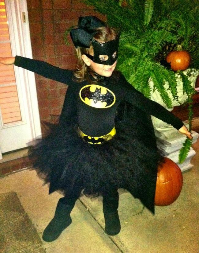 A cute little Batgirl tutu costume.