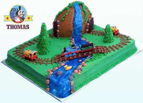Logging locomotives Bash and Dash Thomas and friends misty island rescue kids birthday cakes ideas