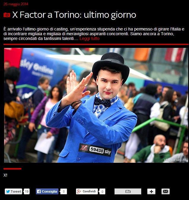 Una comparsa sulla gallery del sito ufficiale di X-Factor Italia 2014!  http://xfactor.sky.it/2014/05/26/x-factor-torino-ultimo-giorno/#3