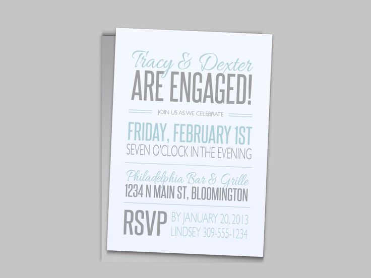 Modern Casual Engagement Party Invitation  Custom by LAShepherd, $20.00