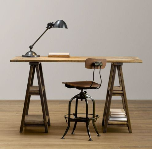 How to: Make a Vintage-Inspired Sawhorse Trestle Desk