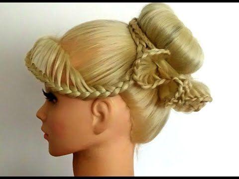 3D Frilly LaceBraid Bun / Hair Tutorial / HairGlamour / HairStyles - YouTube