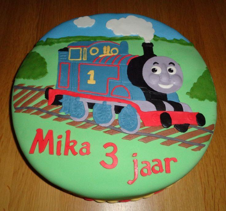 Thomas de trein voor Mika zijn 3e verjaardag