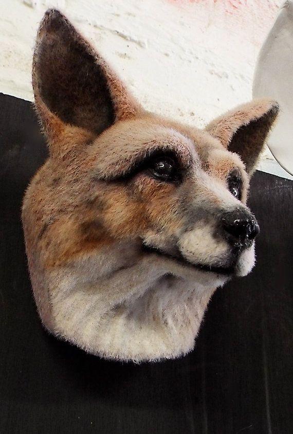 Faux Taxidermy Fox Head Animal Friendly Decorative by BrokenHare