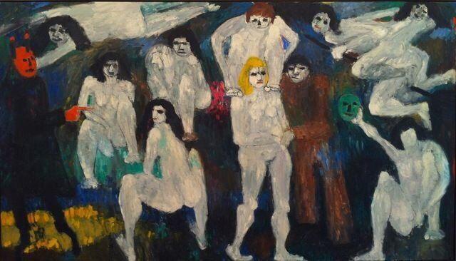 "terminusantequem:  ""Jan Müller (German, 1922-1958), Walpurgisnacht - Faust, I, 1956. Oil on canvas, 173 x 304.7 cm  ""  @anymoneysgood"