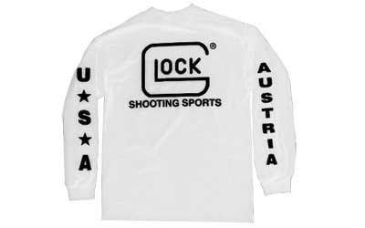 Glock Oem Shtng Spt T-shrt Ls Wht Lg