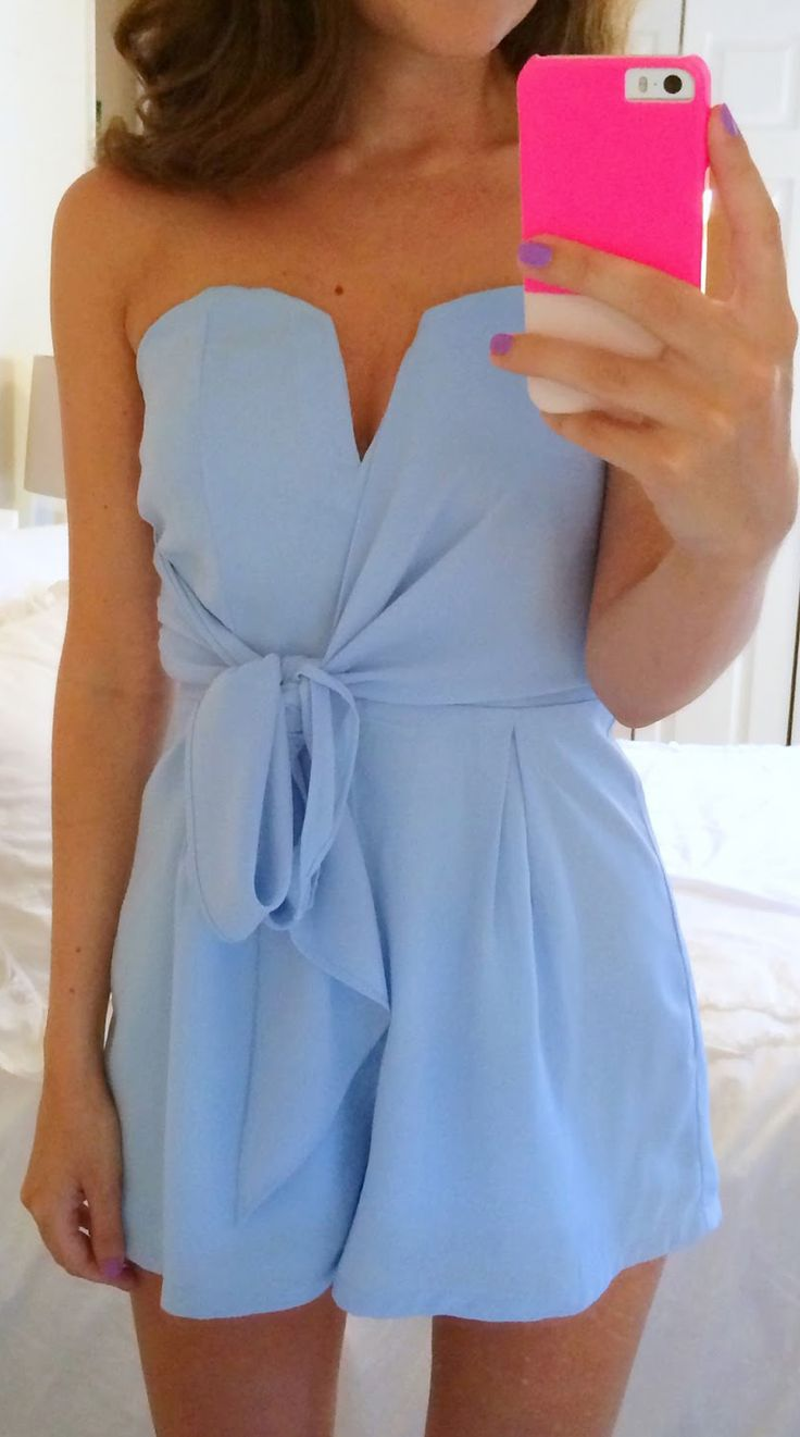 Adorable romper in a gorgeous color! Would be perfect for the destination wedding I'm going to in November