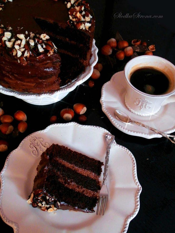 """Słodka Strona: Czekoladowy Tort """"Nutella"""""""