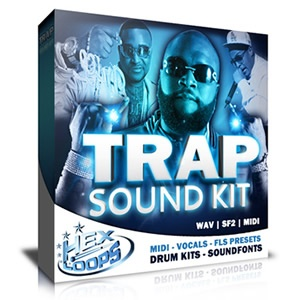 This pack contains top Trap Music Style Drum Kits inspired by artists and producers like: Lex Luger, T.I., Gucci Mane, Rick Ross, Waka Flocka, Magazeen, Masspike Miles, Meek Mill, MMG, Pill, Stalley, Teedra Moses, Torch, Wale, Young Breed and others.