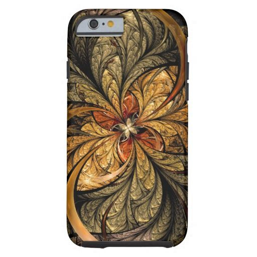 Shining Leaves Fractal Art Tough iPhone 6 Case