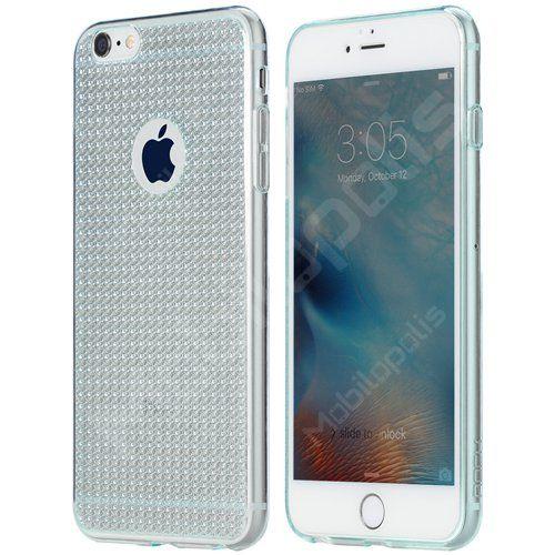 Třpytivý kryt na iPhone 6 Plus, 6s Plus - ROCK Fla series RQ001 tyrkysový   Mobilopolis.cz
