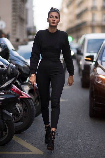 Giovanna Battaglia seen in the streets of Paris during the Paris Fashion Week on September 30 2017 in Paris France