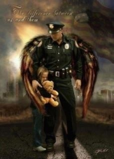 Absolutely stunning!  I love this picture  am so proud to be a police officer's wife!  Thank you to our angels in blue!