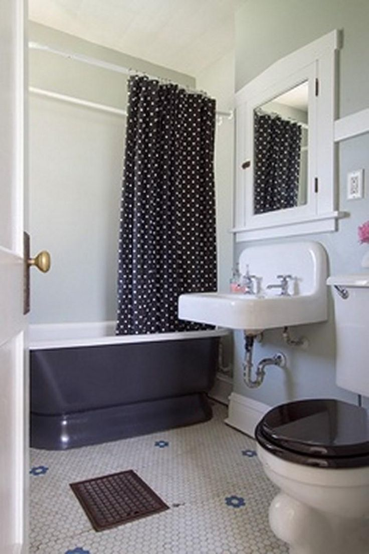 Bathroom colors themes decor ideas on pinterest shower - 10 Vintage Shower Curtains For Perky Look In The Bathroom