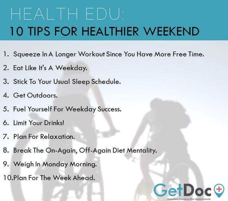 Here's 10 tips for you and your family to have a healthier weekend :)  www.GetDoc.my | Easier and Faster Way to Find Your Nearby Doctor. Anytime. Anywhere.