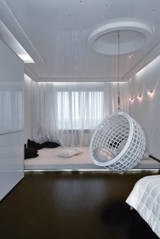 Futuristic Apartment Interior · BettEinrichtungFuturistisches  SchlafzimmerFuturistisches ...