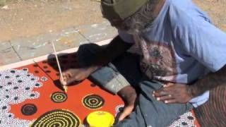 Aboriginal Art William Sandy Emu Dreaming 0791, via YouTube.