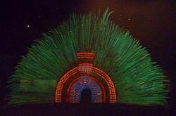 Headdress | aztec feather headdress attributed to moctezuma ii exhibited at the ...