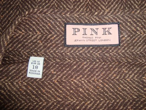 NWOT-PINK-Thomas-Pink-London-Cotton-Button-Front-Long-Slv-Womens-Blouse-Size-18