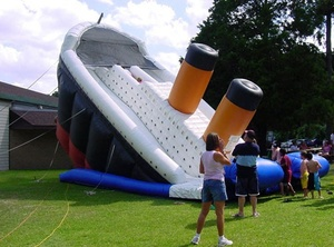 I can't decide if this is extremely insensitive or extremely awesome...: Kids Stuff, Bounce Houses, Playground Fails, 10 Titanic, Bouncey Houses, Water Sliding, Inflatable Titanic, Titanic Waterslid, Inflatable Fun
