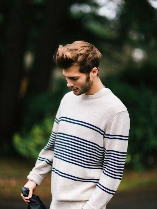 25 Stylish Hot Guys In Stripes -- Nicolas Simoes #mensstyle