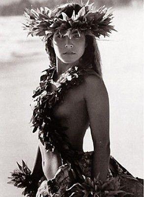 "Kim Taylor Reece ""Makaki'i"" 11 X 14 Double Matted Hawaiian Hula Print - New"