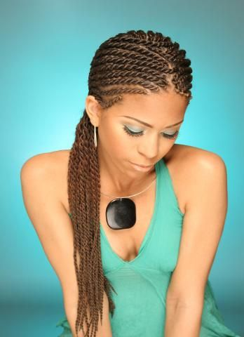 (Hair Style: CornrowTwists)  Length: Long/Past Shoulder Length  * Braid Extentions