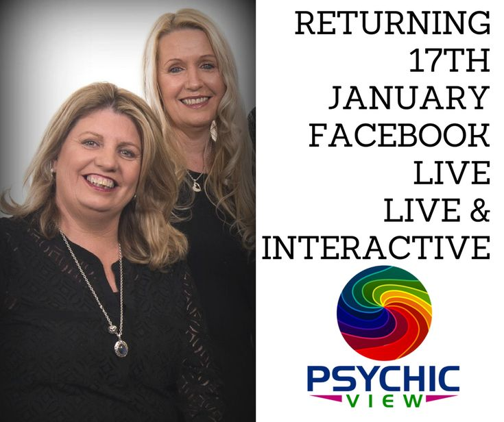Return on the 17th January, 7.30pm Tracey-lee Psychic/Medium & Sharona Clairvoyant/Medium.  Intuitive Guidance Readings Live and Interactive @PsychicViewTeam