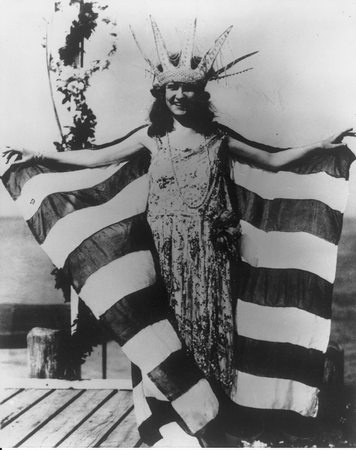 The first crowned Miss America, Margaret Gorman 1921