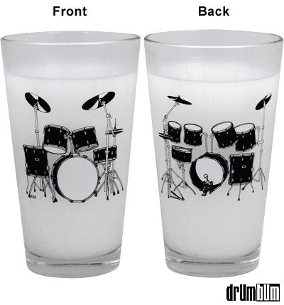 Drumset Pint Glasses - from Drum Bum