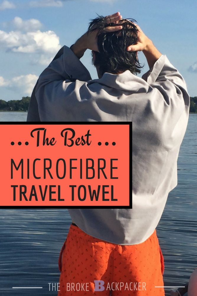 Best microfibre travel towel Pinterest image