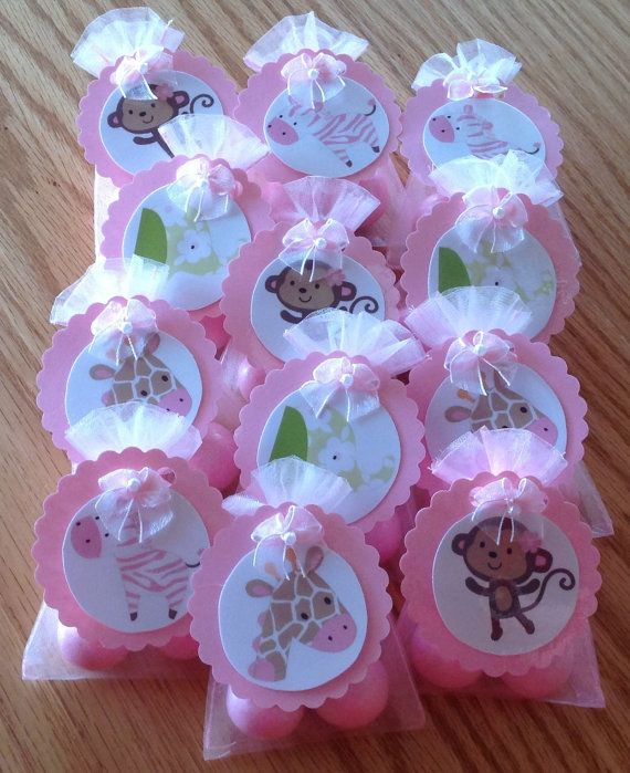 JUNGLE JILL MONKEY baby shower party favors set of by DebbysCrafts, $15.99